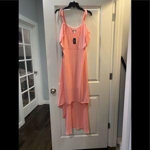 Express Peach High Low Dress